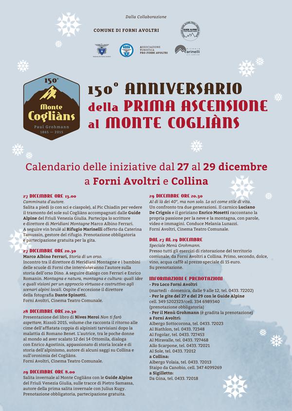 Calendario</br> eventi 2015